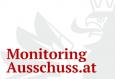 Teil des Bundesadlers in grau darauf steht mit roter Schrift Monitoringausschuss.at