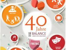 Plakat 40 Jahre BALANCE Leben ohne Barrieren