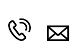 Kontaktsymbol Telefonhörer und Brief